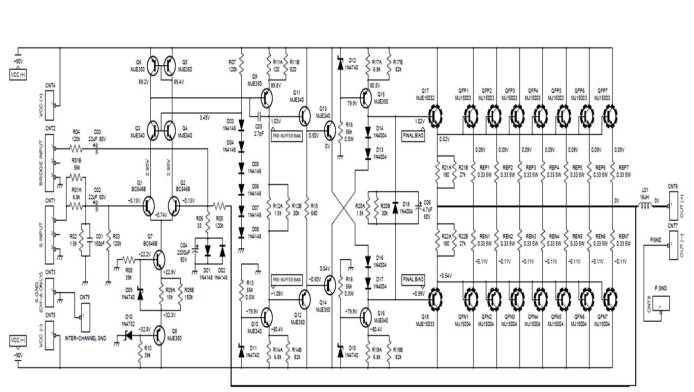 2000W Audio Power Amplifier Circuit