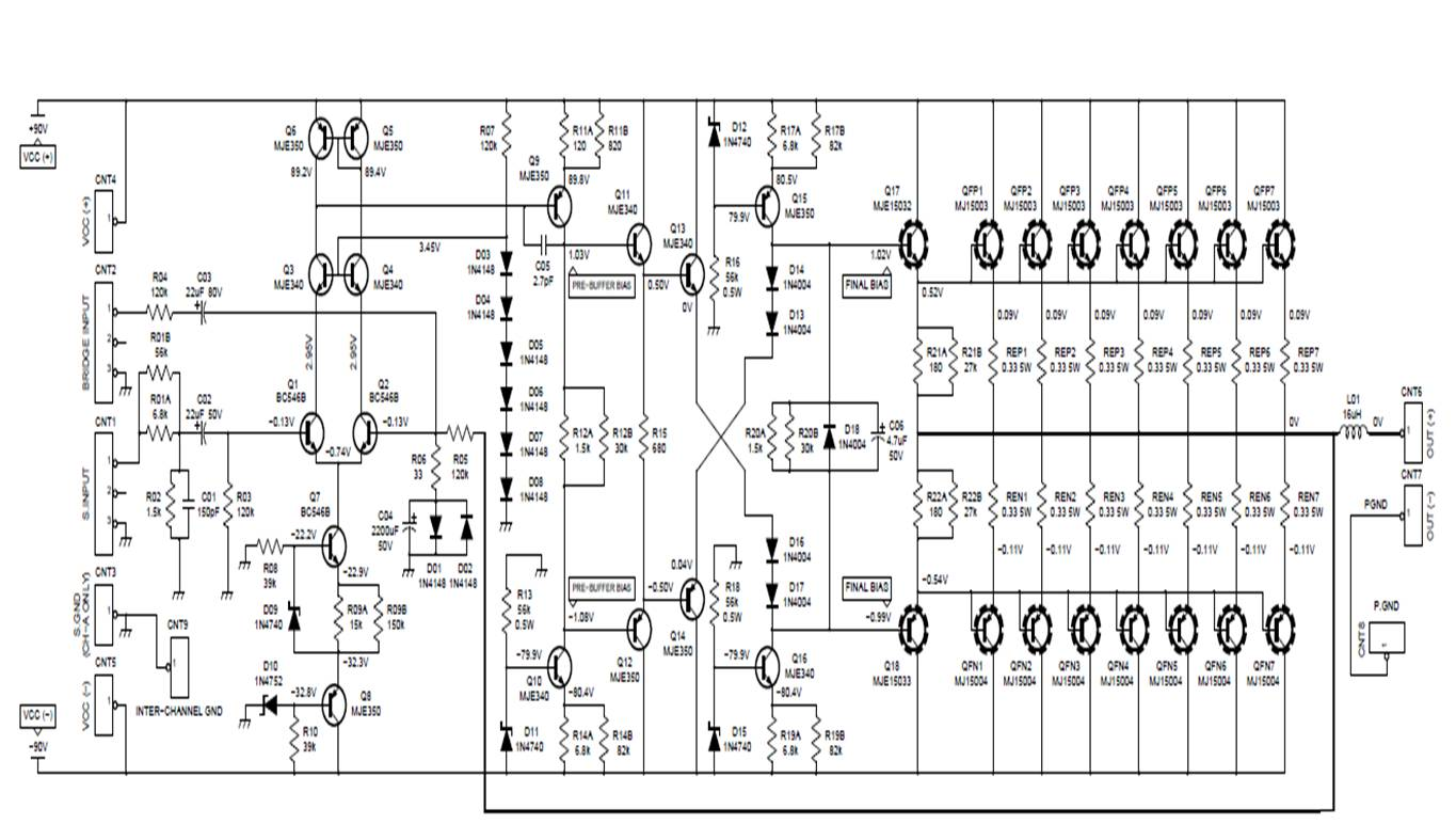 2000w Mosfet Power Amplifier Circuit Diagram Schematics Wiring 300w Amp Ocl Hifi Class Ab By K1530j201 Audio Diagrams Electrical Work 4ooow 500 Watts Car